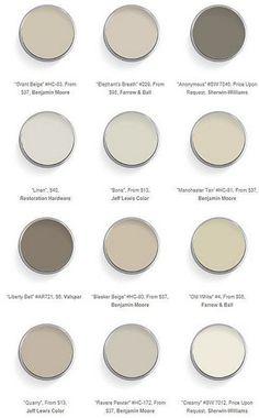 Warm Neutral Color Palette. #NeutralColorPalette #WarmNeutral #PaintColor Via Things That Inspire.: