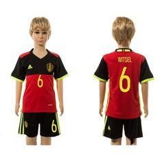 Belgien Trøje Børn 2016 #Witsel 6 Hjemmebanetrøje Kort ærmer.199,62KR.shirtshopservice@gmail.com