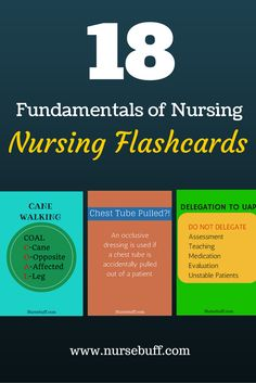 18 Fundamentals of Nursing Flashcards: http://www.nursebuff.com/fundamentals-of-nursing-mnemonics/