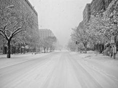K Street Under Snow