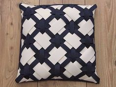 Check out our sewing & needlecraft selection for the very best in unique or custom, handmade pieces from our shops. Weaving Projects, Quilting Projects, Diy Crafts How To Make, Paper Weaving, Weaving Patterns, Diy Pillows, Decorative Pillows, Fabric Manipulation, Ribbon Embroidery