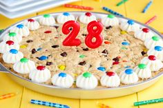 M cookie cake (bake in 9x13 instead of 11 round)