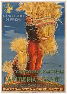 La vittoria del grano #agricoltura #vintage #poster manifesto original  www.posterimage.it