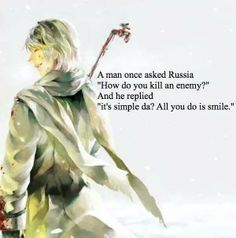 Russia is such a lovely character ♡ even though he is quite scary sometimes...'^-^