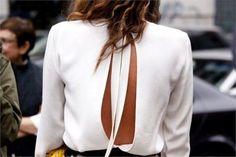 Trend I fashion I spring summer 2016 I street style I open back I white blouse @monstylepin