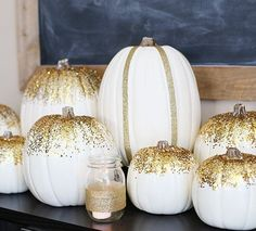 Thanksgiving: Gold Pumpkin Tablescape - See Vanessa Craft Gold. Thanksgiving: Gold Pumpkin Tablescape - See Vanessa Craft Gold Thanksgiving Tablescape Idea Thanksgiving Tablescapes, Thanksgiving Parties, Thanksgiving Decorations, Halloween Decorations, Thanksgiving Crafts, Thanksgiving Wedding, Thanksgiving Celebration, Adornos Halloween, Fete Halloween
