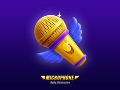 Microphone illustration designed by bqduan. Connect with them on Dribbble; the global community for designers and creative professionals. Prop Design, Game Design, Design Art, Logo Design, Game Concept, Concept Art, Microphone Icon, 3d Icons, Game Icon
