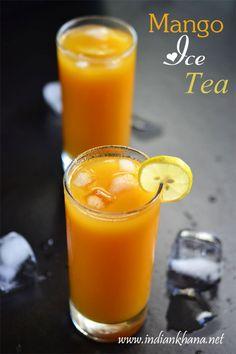 Refreshing, easy summer drink Mango Iced Tea