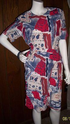 Vintage Patchington Women's Shirt Shorts Belt High Waist Red White Blue Set of 3 #Patchington #Casual
