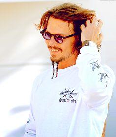 Johnny Depp with Jack Sparrow Goatie :P
