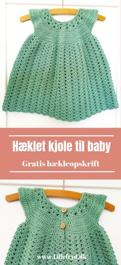 Hæklet kjole til baby - All Hair Styles Crochet Mittens Free Pattern, Baby Knitting Patterns, Knit Crochet, Crochet Patterns, Crochet Hats, Crochet Baby Clothes, Newborn Crochet, Baby Kids Clothes, Crochet Summer Dresses