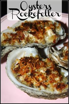 Gulf Coast Oysters Rockefeller: these Gulf Coast oysters are plump and juicy and by topping them with cream cheese, bacon, spinach, and Parmesan they are turned into a creamy, rich, and super delicious appetizer. Fish Dishes, Seafood Dishes, Fish And Seafood, Seafood Recipes, Yummy Appetizers, Appetizer Recipes, Sushi Recipes, Cooking Recipes, Great Recipes