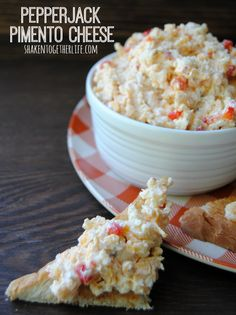 Homemade pepperjack pimento cheese