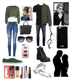"""""""Matching couple outfits"""" by brianavallejo ❤ liked on Polyvore featuring WithChic, Vans, Christian Louboutin, Casetify, Too Faced Cosmetics, NARS Cosmetics, Smith & Cult, MAC Cosmetics, Ace and Jack & Jones"""