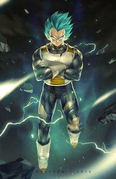 Dragon Ball Super - Super Saiyan Vegeta God Blue SSGSS #dragonballsuper…