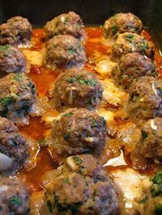Smoked Mozzarella Stuffed Meatballs Recipe ~ International Recipes - Foods and Drinks