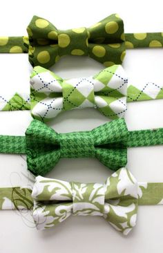 Little Guy BOW TIE - LUCKY St. Patricks Day Collection - (Newborn - 10 years) - Baby Boy Toddler - Custom Order - Wedding - Photo Prop. $15.00, via Etsy.