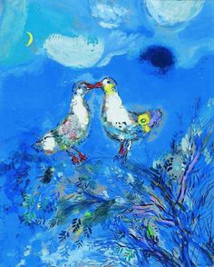 afroui:  Marc ChagallTwo Pigeons 1925  All colors are the friends of their neighbors and the lovers of their opposites.