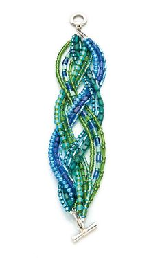 Jewelry Design - Multi-Strand Bracelet with Celestial Crystal® Beads and Delica®…