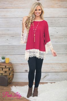 You'll feel Red Hot in this gorgeous and romantic blouse!