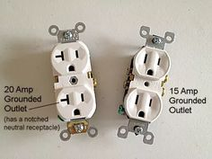 Easy-to-use tips for wiring electrical switches and outlets in your home, including switches and GFCI outlets. Home Electrical Wiring, Electrical Switches, Electrical Projects, Electrical Outlets, Electrical Engineering Quotes, Home Fix, Diy Home Repair, Home Repairs, Home Improvement Projects
