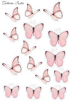 Pretty Birthday Cakes, Birthday Cake Toppers, Pretty Cakes, Cute Cakes, Butterfly Cakes, Butterfly Party, Butterfly Birthday, Butterflies, Art Bullet
