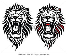 Isolated tribal lion tattoo - vector illustration by Petrovic Igor, via Shutterstock