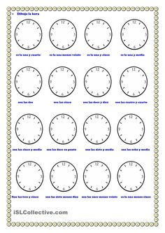 Worksheet La Hora Worksheet thematic units spanish and crossword puzzles on pinterest la hora