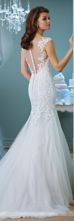 106 best Trumpet Wedding Dresses images on Pinterest | Short wedding ...