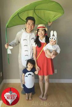 Cosplay Costume Totoro Family at Animethon 2015 - … Continued Lolita Cosplay, Baby Cosplay, Cosplay Anime, Cosplay Outfits, Cosplay Ideas, Family Costumes For 4, Family Themed Halloween Costumes, Hallowen Costume, Halloween Cosplay