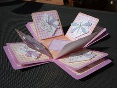 Dragonfly Exploding Box Kit on Craftsuprint created by Angela Butters - cut out all elements and made up as instructions