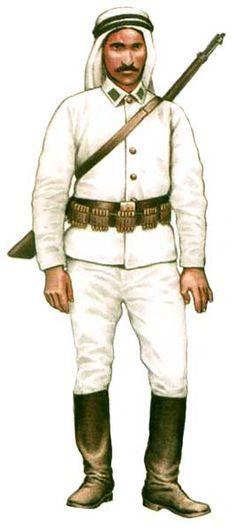 Cyklista armii tureckiej, 1914 - 18
