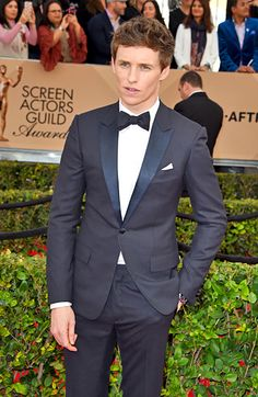 BEST: Eddie Redmayne Eddie Redmayne might have been nominated for his turn as a transgender pioneer in The Danish Girl, but he could have earned an award for just how damn sharp he looked in a slim-cut Dior tux. Plus, the former model gets extra points for dressing himself without the help of a stylist. #SAGAwards