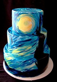 Starry Night Cake...wow!