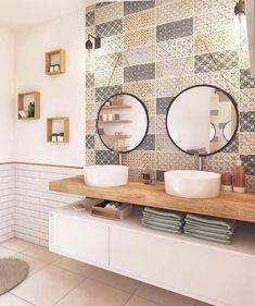 "Inspi_Deco on Instagram: ""▪️ Bathroom Design 😍 Inspi @rhinov_ #picoftheday #toilette #wc #bathroom #bathroomdecor #bathroomdesign #bathroomideas #classy…"" Diy Bathroom Decor, Bathroom Styling, Small Bathroom, Wc Bathroom, House And Home Magazine, White Decor, Bathroom Inspiration, Cloud Illustration, Wallpaper Art"