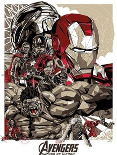 Avengers: Age of Ultron by Simon Delart - Home of the Alternative Movie Poster -AMP-