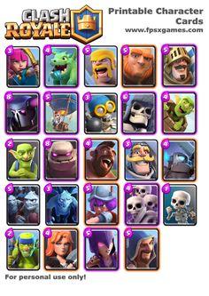 Printable Clash Royale Cards