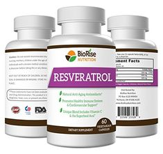 BioRise Nutrition Resveratrol Superblend With Vitamin C & the Superfood Acai – 30 Day Supply – Powerful Antioxidant – Grape Seed Extract to Provide Cardiovascular and Immune System Support Spinach Nutrition Facts, Holistic Nutrition, Green Coffee Bean Extract, Grape Seed Extract, Turmeric Curcumin, Diet Supplements, Superfood, Herbalism
