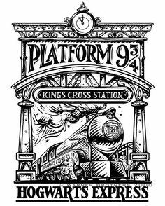 Tattoo Harry Potter Hogwarts Express Ideas For 2019 Harry Potter Thema, Cumpleaños Harry Potter, Harry Potter Houses, Harry Potter Birthday, Harry Potter Symbols, Harry Potter Printables, Harry Harry, Harry Potter Tattoos, Harry Potter Drawings Easy