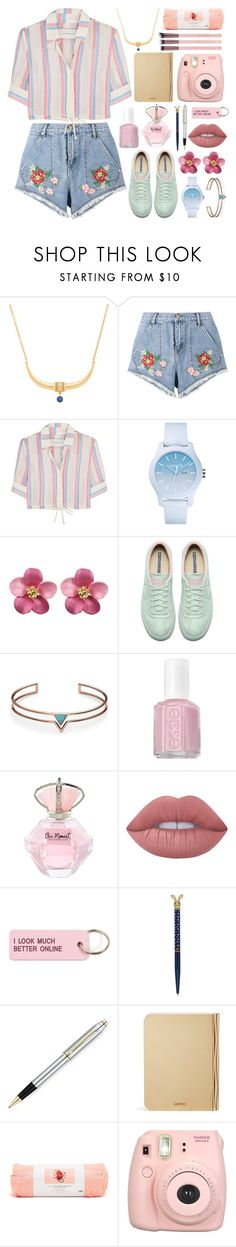 """Untitled #175"" by fjannah on Polyvore featuring AYA, House of Holland, Solid & Striped, Lacoste, FOSSIL, Essie, Lime Crime, Various Projects, Wild & Wolf and Lumio"