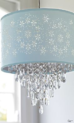 Shades Of Blue ● lighting from Laura Ashley ... Would love this in my daughters room...