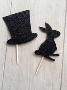 What does every Magician need? A rabbit and Magic hat of course!! And our glitter Magic cupcake toppers are that perfect extra flair for any