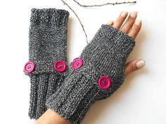 Black Fingerless Gloves Knitting Fingerless Arm Warmer