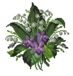 Rug with roses and violets antique pattern for cross stitch or berlinwok Folk Art Flowers, Vintage Flowers, Flower Art, Cross Stitch Heart, Cross Stitch Flowers, Cross Stitch Embroidery, Cross Stitch Patterns, Roses And Violets, Poppy Wreath