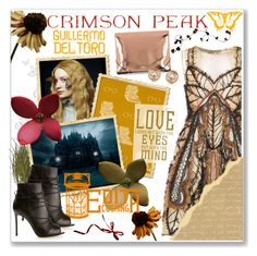 """""""Indulge Your Dark Side with Crimson Peak : Contest Entry"""" by maria-maldonado ❤ liked on Polyvore featuring Alberta Ferretti, MM6 Maison Margiela, Gianvito Rossi, Michael Kors and vintage"""