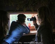 Rowan waits patiently in a bear hide in Romania for a first glimpse of a european brown bear.