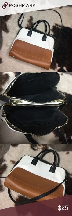 ZARA two toned bag ZARA two toned bag with removable and adjustable straps Zara Bags Shoulder Bags