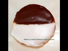 Half Moon Cookies Upstate New York Style - and raspberry jam & coconut cookies with video.  GOOD ONE!
