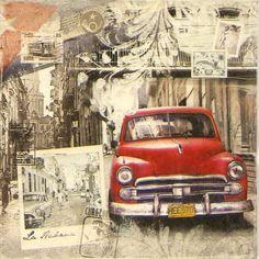 4x Paper Napkins - La Habana - for Party, Decoupage Craft