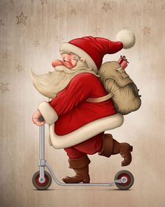 Funny Santa Claus Pictures : Christmas is a jolly holiday season and we do love Father Christmas who is known as Santa Claus. Santa claus is known to ride his reindeer sledge and bring gifts to kids Funny Christmas Photos, Funny Christmas Cards, Father Christmas, Christmas Humor, Christmas Quotes, Holiday Photos, Christmas Drawing, Christmas Paintings, Christmas Art